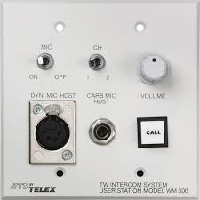 wired intercoms telex user manual pdf manuals com telex wm 300l wall mount user station w an a5f f 01u