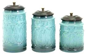 kitchen canister set blue glass kitchen canisters sets ceramic canister blue superb jars storage colored jar kitchen canister set blue
