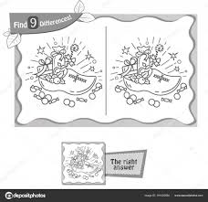 Find 9 Verschillen Spel Sint Nicolaas Stockvector Rodnikovay1