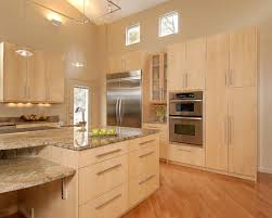 Maple kitchen cabinets contemporary Natural Maple Like The Layout For Fridge Cabinets And Oven Microwave Wall Birch Kitchen Cabinets Pinterest Neutral Decor And Ideas Page Home Kitchens Pinterest