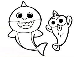 The song baby shark was popularized by a video produced by pinkfong, a brand of education the smart study of south korea, titled baby shark (hangul: Baby Shark Coloring Pages 50 Printable Coloring Pages