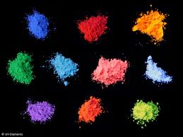 Orange Blue Green Day Glow Pigment Set 2 10x50g White Blue Green Yellow Red
