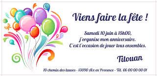 Carte D Invitation Anniversaire Enfant Carte Anniversaire Imprimer