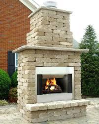 diy outdoor stone fireplace kit awesome wood burning within kits design 4