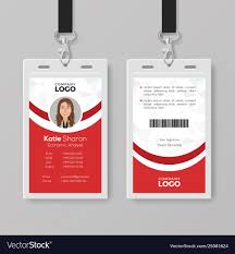 Red Design Company Elegant Red And White Id Card Design Template