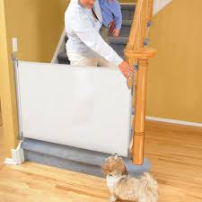 retractable gate baby kid safety pet stair folding guard safe