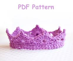 Crochet Crown Pattern Inspiration Crochet Baby Crown Pattern Promo Price Pattern Easy Level Etsy