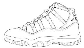 Air Jordan Coloring Book Pages Sneakers X Sheets Shoe Color Page