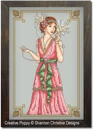 Art Deco Cross Stitch Charts Art Deco Lady Cross Stitch Pattern By Shannon Christine Designs