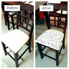 reupholster chair seat best fabric to recover dining room seats awesome chairs kitchen cushions