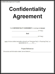 Confidentiality Agreement Samples Confidentiality Agreement Template Wordstemplates Sample Resume