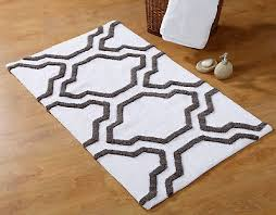 2 pc bath rug set cotton 24x17 and 34x21 anti skid