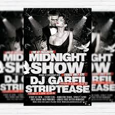 midnight show premium flyer template facebook cover
