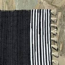 senarai harga black and white striped hand woven 100 cotton rag rugs 100 cotton area rugs