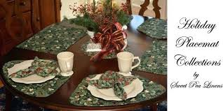 center table mats sweet pea linens holiday collection of for round tables come in wedge shaped