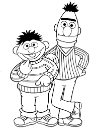 Sesame Street Coloring Pages Ernie And Bert Coloringstar