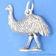 <b>925 Sterling Silver</b> 3-D Ostrich Charm foreignlang.spbu.ru