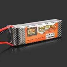 Generic <b>ZOP Power 11.1V 2200MAH</b> 3S 30C Lipo Battery XT60 Plug