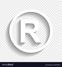 Registered Symbol Registered Trademark Sign White Icon With