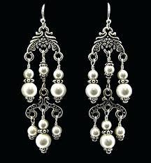 pearl chandelier earrings pearl chandelier earrings white gold pearl chandelier earrings