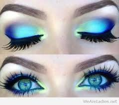 colorful with blue eye makeup