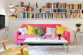 View in gallery Bookshelves in a compact apartment