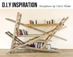 image ladder bookshelf design simple furniture. super unique ladder bookshelf with simple diy bookcase for arrangement old wooden image design furniture l