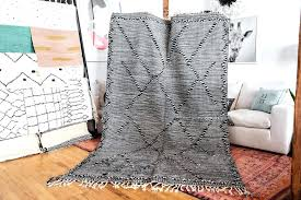 black and white flat weave rug for dining room flat weave rug 9 della grey cotton runner