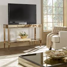 Camille Glam Mirrored TV Stand Console Table with Drawer by iNSPIRE Q Bold  - Free Shipping Today - Overstock.com - 20656021