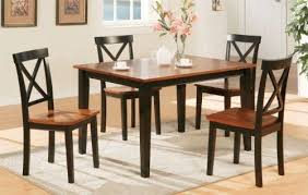 beautiful cal designed 5pc dining set 1 table 4 chairs in 2 tone finish pd20250 black kitchen tablesdining chairsdining room