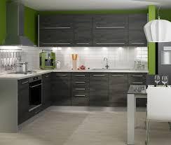 Küchenblock Küchenzeile Komplett Küche L Form 13 Tlg Grau Black