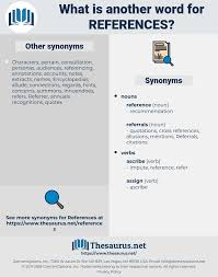 Synonyms For References Thesaurusnet