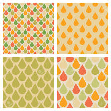 Drops Patterns Inspiration Set Of Vector Drops Seamless Patterns In Retro Fall Colors Rain