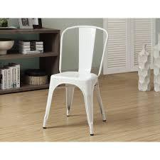 white metal furniture. Glossy White Metal Dining Chair (Set Of 2) Furniture