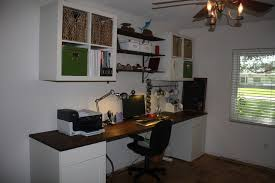 butcher block desk home office eclectic with none image by heather