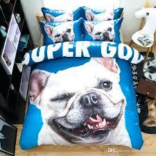 dog bedding set french bulldog animal bedding set blue duvet cover bed sheet sets double queen king size bedding bulldog bedding sets animal comforter set