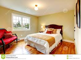 Cozy Warm Colors Bedroom With French Window Stock Image Image