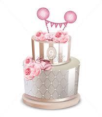 Wedding Cake Vector Realistic Anniversary Birthday Ceremony