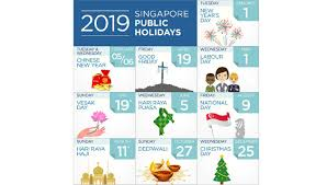 Singapore's list of 2019 public holidays | Human Resources Online