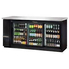 true tbb 24 72g sd hc ld 73 3 section bar refrigerator sliding glass doors 115v