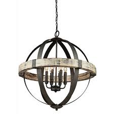 castello black and aspen wood six light 26 5 inch wide chandelier
