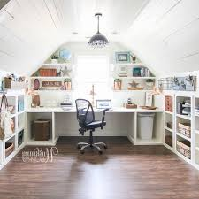 office craft room ideas. Amazing Office/Craft Room Organization In The Attic - Look At All Those Cubbies Under Office Craft Ideas