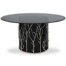 elani enchanted glass round designer dining table