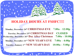 holiday hours fort sanders health and fitness center