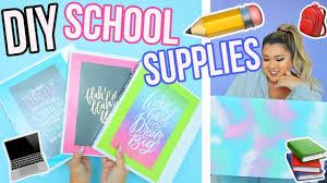 diy school supplies back to school 2017