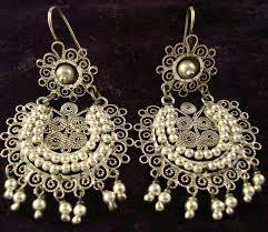 silver stone darling filigree chandelier earrings w inlay options 2