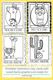 Here are some fabulous free printable valentine's day coloring pages for kids to use! Llama Valentines Free Printable Valentines Cards To Color The Kitchen Table Classroom