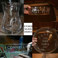 How To Etch Glass Diary Of A Crafty Lady Etched Glass Baking Dishes