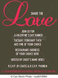 Valentines Day Invitations Amazing Share The Love Valentine's Invite Valentine's Day Dinnerparty
