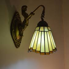 image of stained glass wall sconce designs